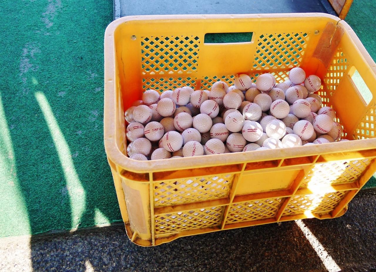 500球近くのゴルフボール