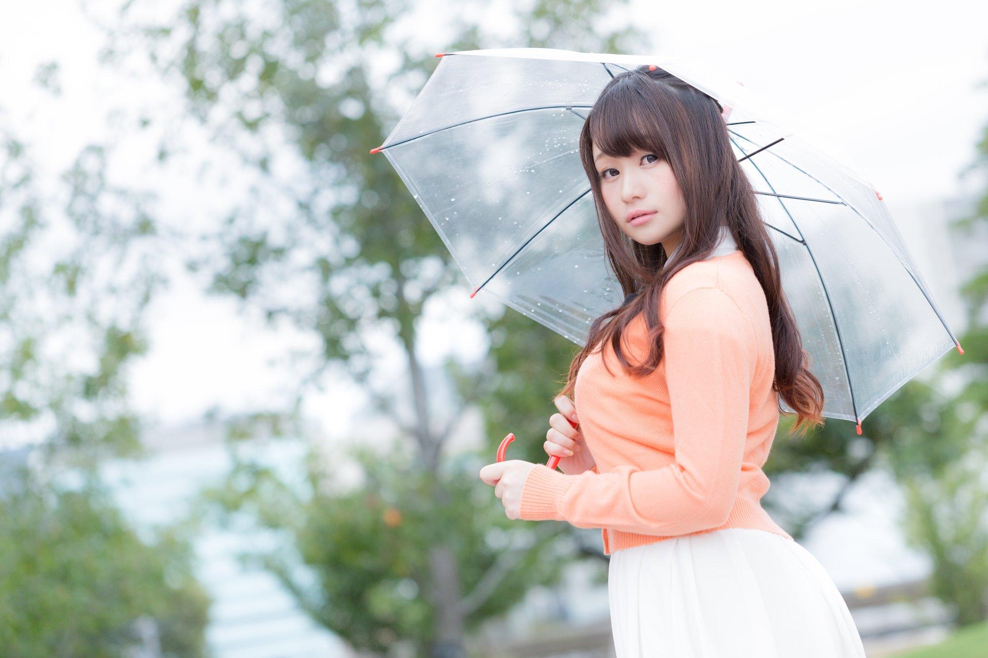傘をさすボイン