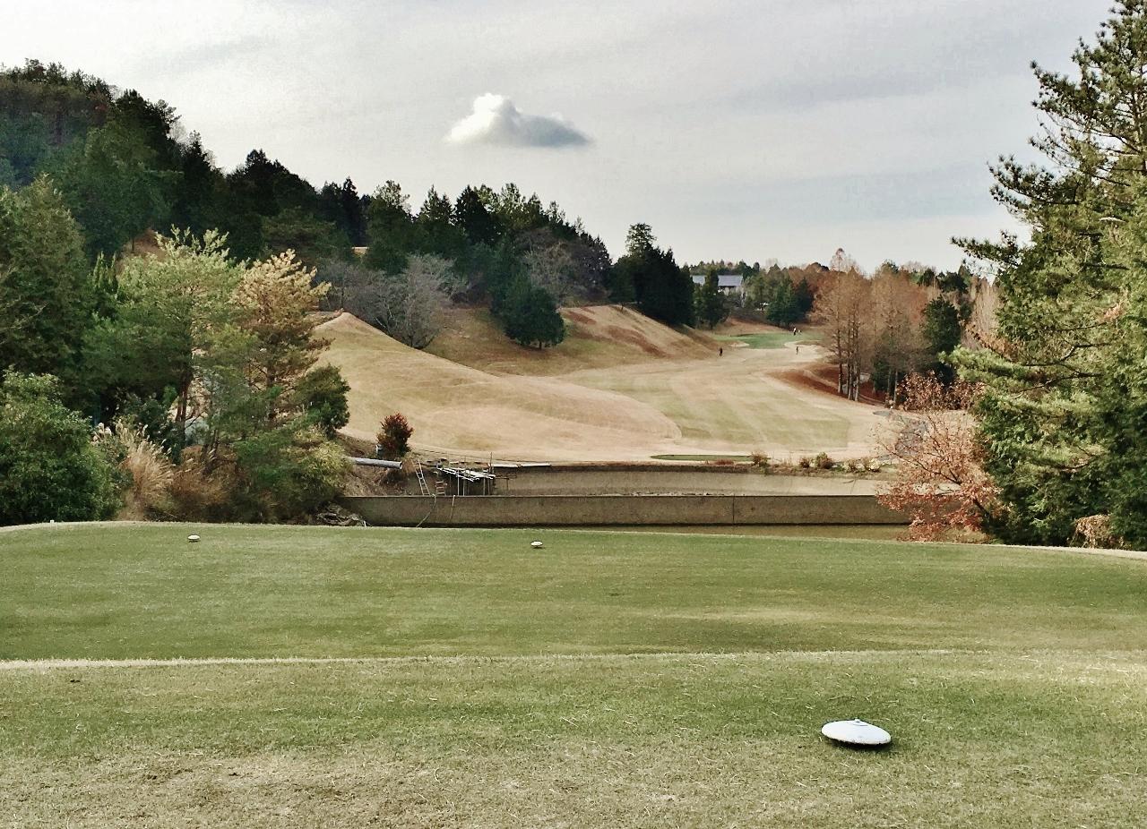 真冬のゴルフ場