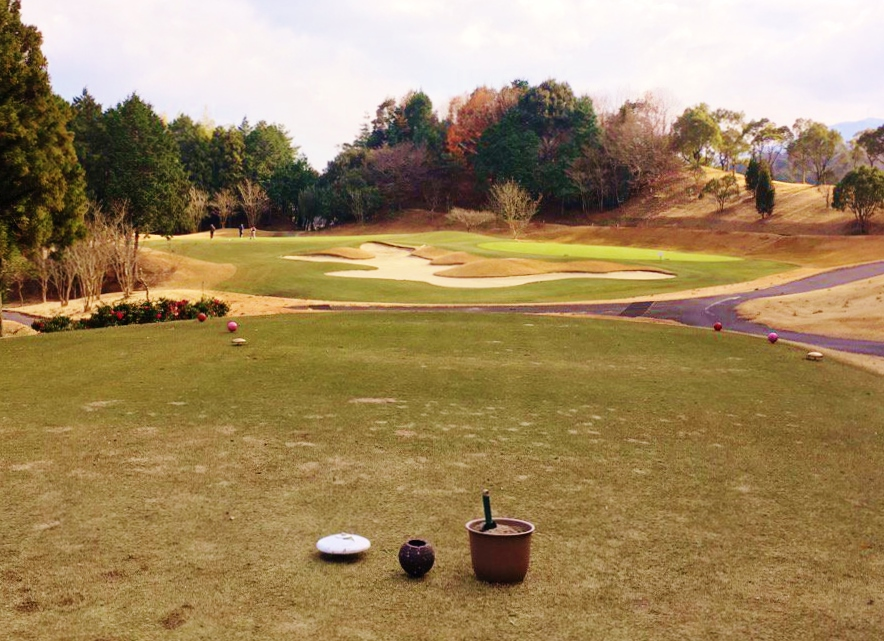 ゴルフのティーグラウンド