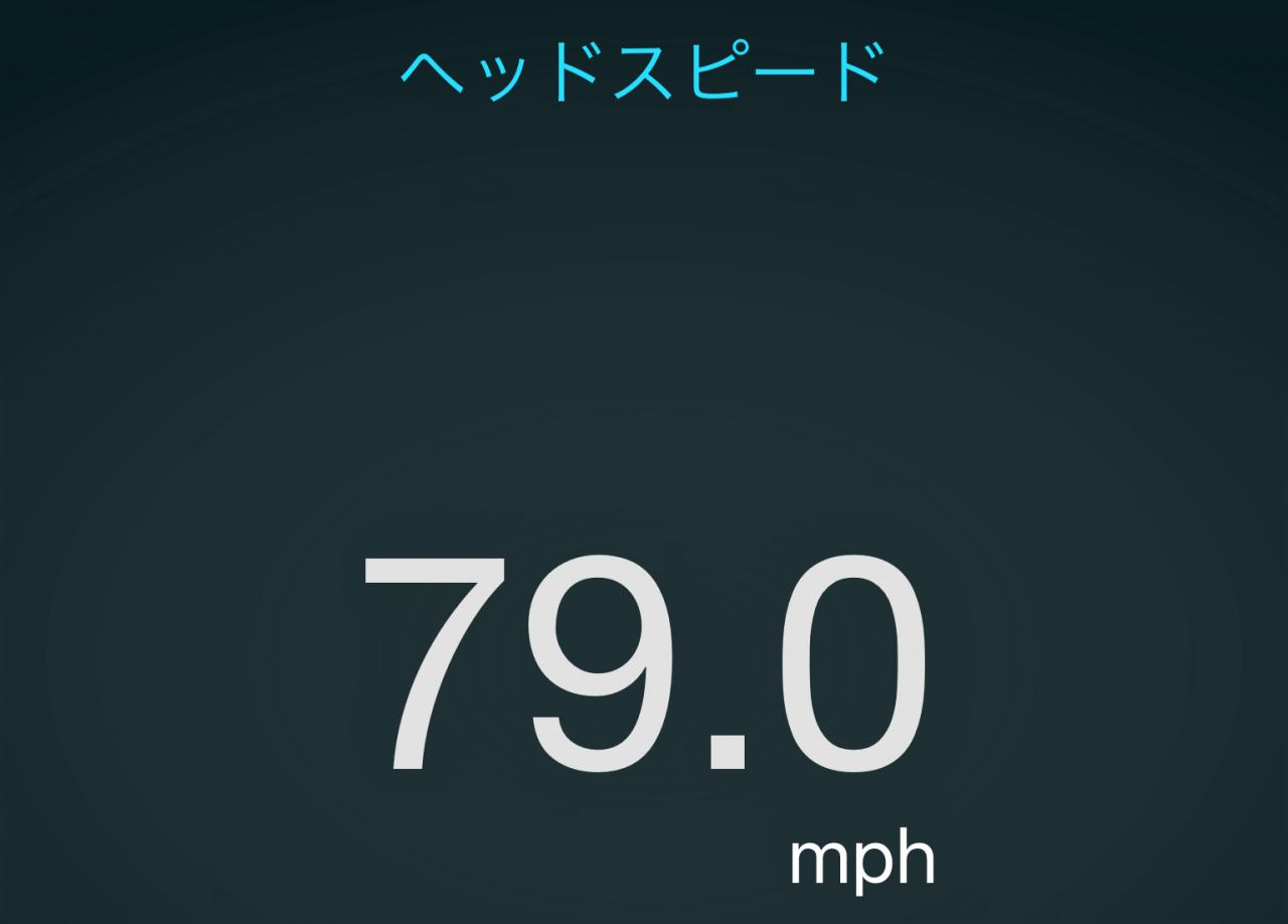 ヘッドスピード79