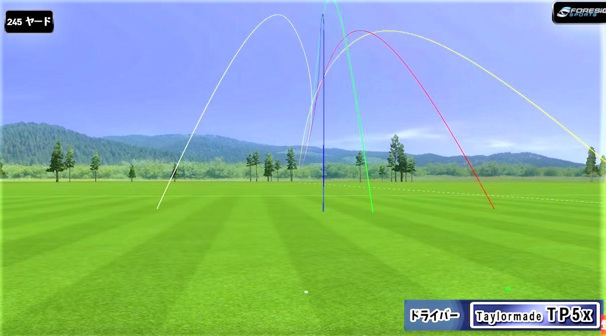 ゴルフボール試打データ